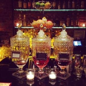 The Summit Bar is a cozy, dimly lit bar, with an inventive cocktail menu, on Avenue C.