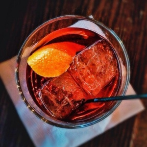 The Old Fashioned. Haven Hill, Brandied Cherry, Angostura Bitters, and Orange.